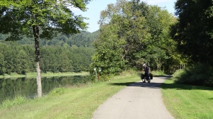Going down the trail from Emlenton to Franklin, PA