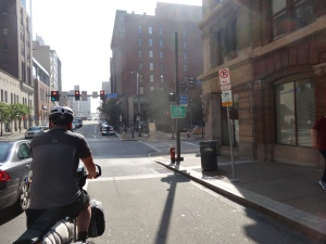 Riding on the streets of Pittsburgh, PA