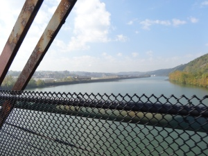 View from the Hot Metal Bridge in Pittsburgh, PA