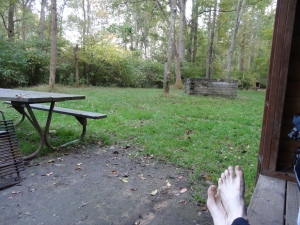 view from Roundbottom camping spot-night 1, resting my weary toes!