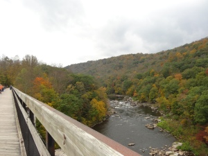 view near Ohiopyle, PA form the GAP Trail