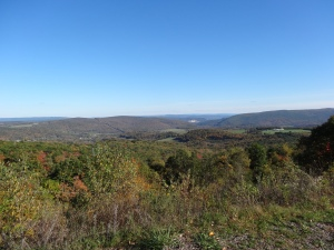 view from the Eastern Continental Divide on the GAP Trail