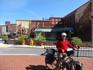 leaving the Pedestrian Mall in Cumberland, MD