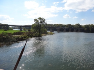 view of bridge near Williamsport, MD on the C & O Canal Path