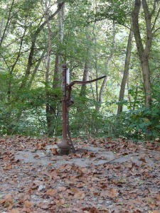 water pump at camping areas on the C & O Canal Path