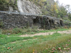 stone wall of the C & O Canal