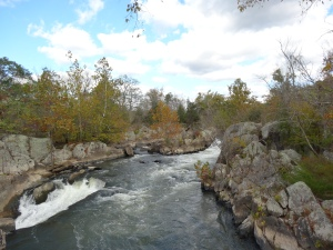 view around Great Falls Park