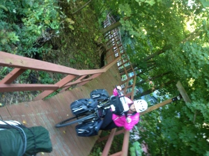 pushing up the ramp at the Trail Side Inn & Cafe in Frostburg, MD