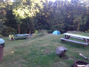 camping at the Trail Side Inn & Cafe in Frostburg, MD