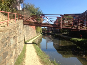 footbridge over C & O Canal in Georgetown area
