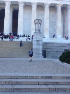steps of the Lincoln Memorial, Washington, DC, just before I give my